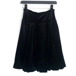 BCBG High Waist Velvet Skirt